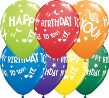 Birthday Music Notes - 11 Inch Balloons 25pcs